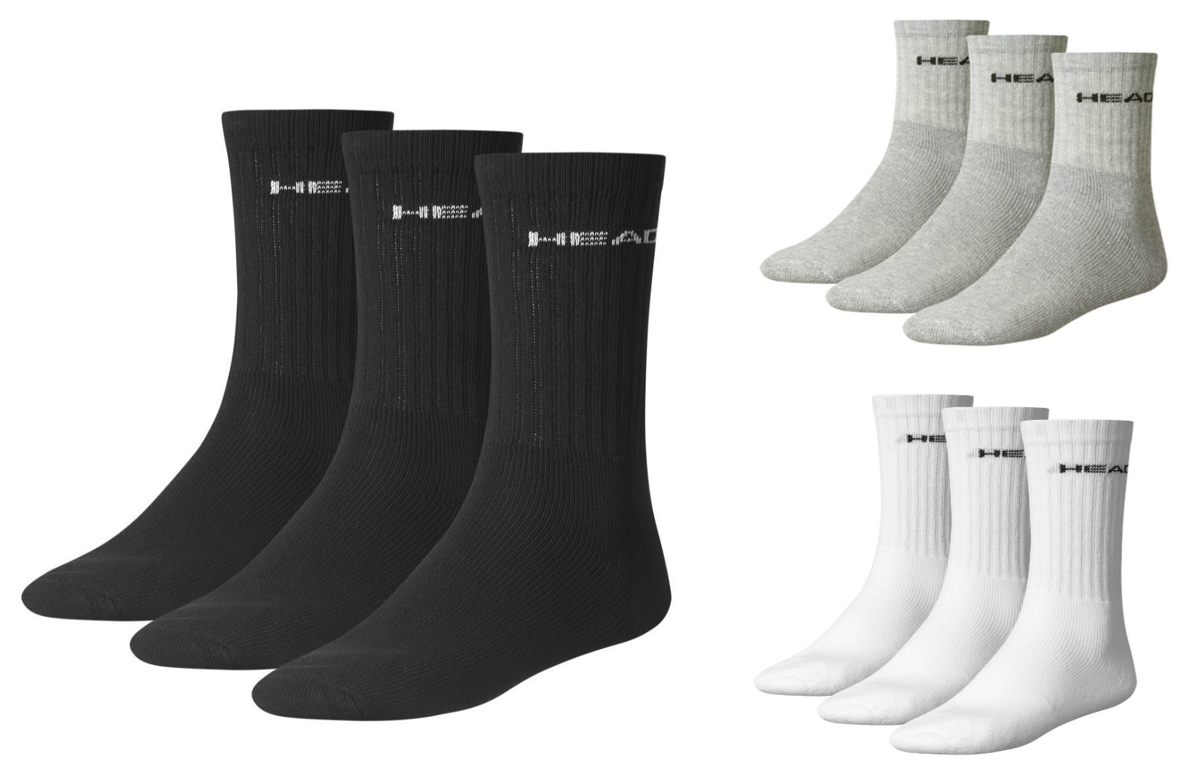 6 Paar Head Tennissocken, Sportsocken, Crew Socks