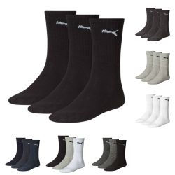 6 Paar Puma Sportsocken, Crew Socks Tennissocken in verschiedenen Farben